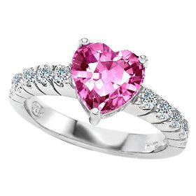 Heart Shape Pink Sapphire Engagement Ring