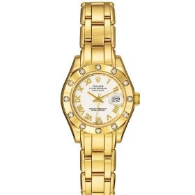 Rolex Oyster Perpetual Lady Datejust Pearlmaster 18kt Yellow Gold Diamond Ladies Watch 80318-PM